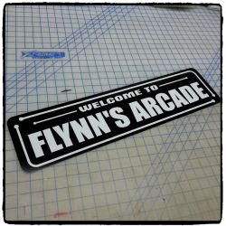 Tron: Welcome to Flynn's Arcade Aluminum Sign