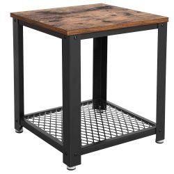 VASAGLE Vintage End, 2-Tier Side Table