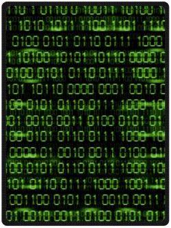 Blake Fleece Blanket Binary Code Plush Throw