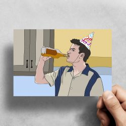Charlie Sheen – Two and a Half Men – Birthday Card
