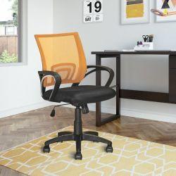 Symple Stuff Mesh Task Chair, Orange