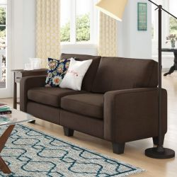 Winston Porter Charlee Sofa, Dark Brown