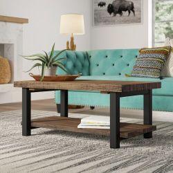 "Mistana Veropeso 42"" Wood/Metal Coffee Table"