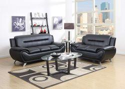 GTU Furniture Contemporary Bonded Leather & Loveseat Set