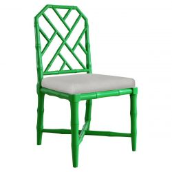 Kathy Kuo Home Fontaine Hollywood Regency Bright Bamboo Dining Chair