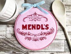 Mend'ls Patisserie Embroidery Hoop