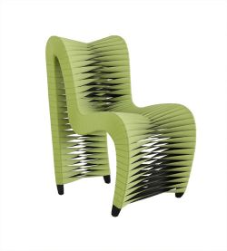 Phillips Collection Seatbelt Dining Chair, Green