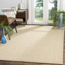 Safavieh Natural Fiber Collection Sisal and Wood Beige Area Rug