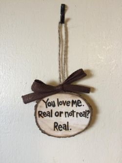 You Love Me. Real or Not Real? Real. The Hunger Games Inspired Valentines Ornament